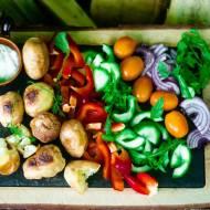 Sałatka na grilla z ziemniakami
