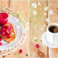 Tosty francuskie z sosem malinowo-arbuzowym / French toast with raspberry-watermelon sauce