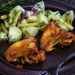 Skrzydełka kurczaka pieczone w musztardzie