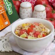 Sałatka z warzyw, ryżu i kaszy