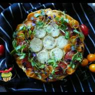Fritatta z kozim serem i pomidorami