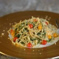 Spaghetti z agretti – makaron z solanką