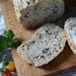 Chleb czosnkowy z siemieniem lnianym
