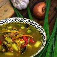 Tajska zupa z polędwiczki wieprzowej