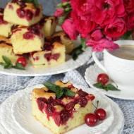 ciasto ucierane z wiśniami