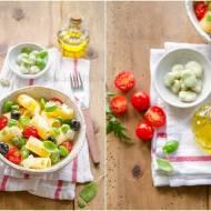Makaron z bobem, szałwią i oliwkami / Pasta with broad beans, sage, and olives