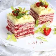 TRUSKAWKOWA ZEBRA – ciasto bez pieczenia!