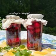 Kompot wiśniowo-porzeczkowy z miętą