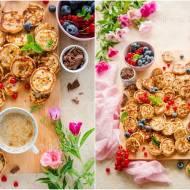 Mini pancakes z czekoladą / Mini pancakes with chocolate