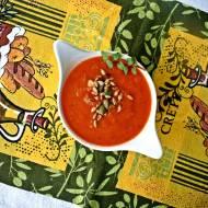 Zupa z krem z pieczonej papryki z pomidorami