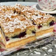 Kruche ciasto z pianką i borówkami
