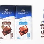 Czekolada mleczna oraz gorzka bez dodatku cukru – Magnetic (Biedronka)