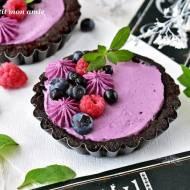 Oreo tartaletki z kremem jagodowym