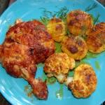 Pieczone Wakacyjne Trio, kurczak, kalafior, kartofel