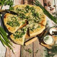 Pizza biało zielona – sos na bazie majonezu