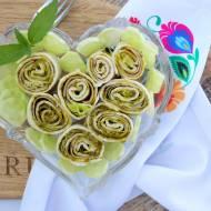 Roladki z tortilli z zielonym pesto – szybka przekąska
