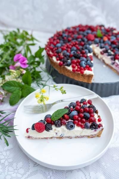 Tarta owocowa bez cukru