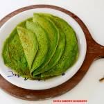 Zielone naleśniki jarmużowe z kurkami