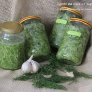 Szybkie ogórki na zimę do zupy ogórkowej (bez pasteryzowania)