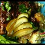 Karkówka w sosie z suszonych grzybów