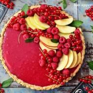 Biało-czerwona tarta z owocami