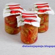 Sałatka z zielonych pomidorów - na zimę