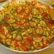 Pyszny sos z cukinią do makaronu lub ryżu – danie bez mięsne – propozycja na szybki obiad