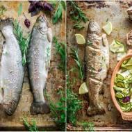 Pstrąg z piklowaną cukinią / Trout with pickled zucchini
