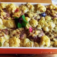 Zapiekanka z klopsikami, kalafiorem i ziemniakami