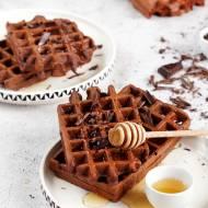Pełnoziarniste gofry czekoladowe