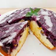 Ciasto odwrócone z borówkami (upside down cake)