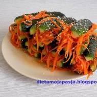Ogórki z marchewką po koreańsku
