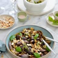 Mini bakłażany w maślano-migdałowym sosie z pesto!
