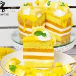Tort Ptasie Mleczko: mango-kokos (bez glutenu i białego cukru)