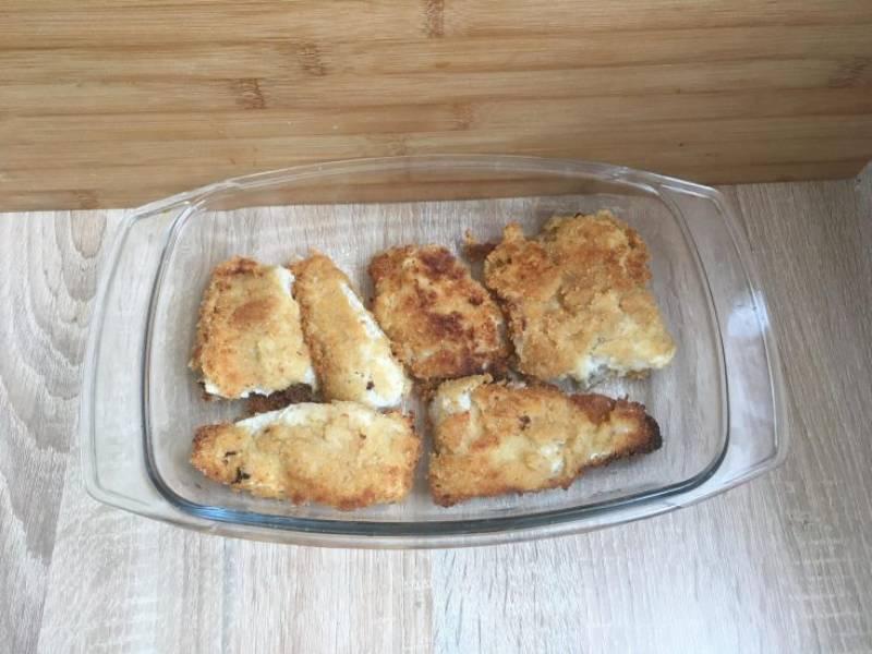 Smażone filety rybne marynowane w kefirze
