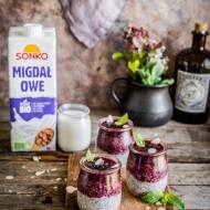 Migdałowo-jagodowy deser chia