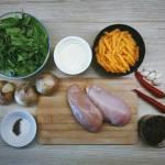 Kurczak z makaronem na ostro