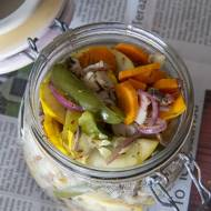 Pęczak z pieczonymi  warzywami