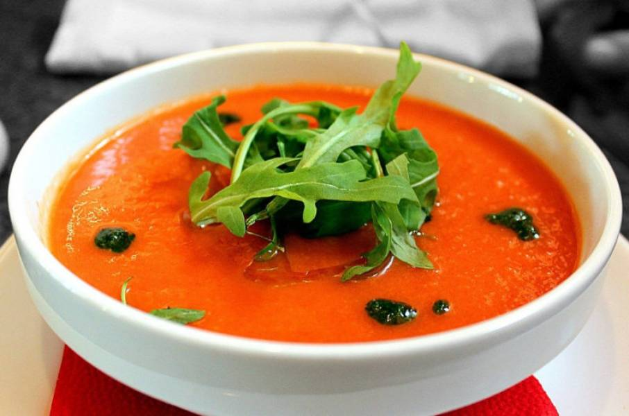 Gazpacho – chłodnik arbuzowo pomidorowy