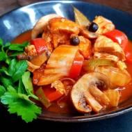 Potrawka jesienna z kurczaka i kapusty pekińskiej.