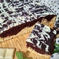 Ciasto ucierane z polewą czekoladową.