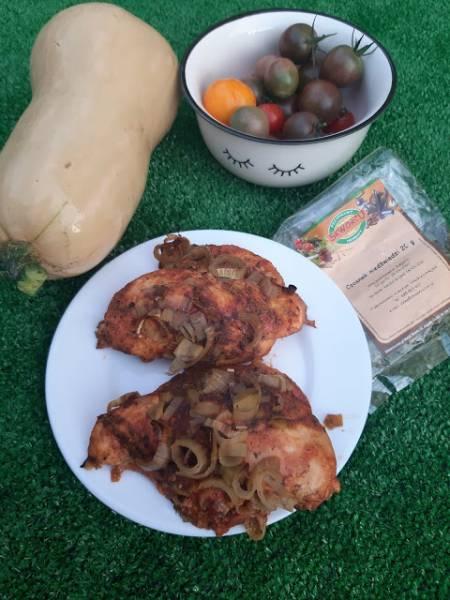 Filety z kurczaka na słodko z porem i jabłkiem
