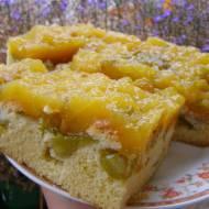 ciasto ucierane śliwkowe z musem z soku pomarańczowego ze śliwkami...
