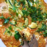 Pyszny, prosty omlet z cukinią (keto)
