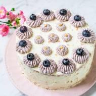 Tort Biały Michałek Z Żelką Borówkową