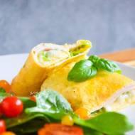 Omlet francuski z serem i szynką