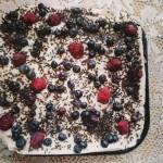 Ciasto bez pieczenia -Jagodzianka
