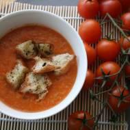 Zupa paprykowo pomidorowa z grzankami