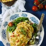 Dietetyczne placuszki z piersi kurczaka z piekarnika