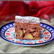 Fit ciasto czekoladowe z gruszkami